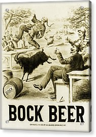 Vintage Bock Beer - 1879 Acrylic Print by Bill Cannon