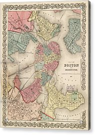Vintage Boston Map 2 Acrylic Print