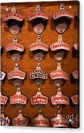 Vintage Bottle Openers Acrylic Print by Amy Cicconi