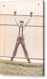 Vintage Boxer Doing Star Jumps  Acrylic Print