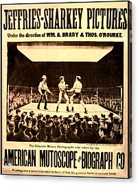 Vintage Boxing Movie Poster Acrylic Print by Bill Cannon