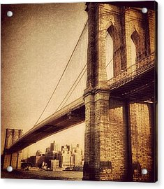 Vintage Brooklyn Bridge.  #brooklyn Acrylic Print