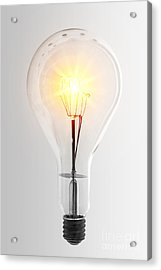 Vintage Bulb Acrylic Print by Carlos Caetano