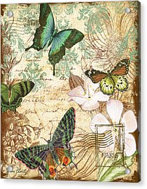 Vintage Butterfly Kisses  Acrylic Print