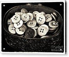 Vintage Button Treasure Acrylic Print by John Rizzuto