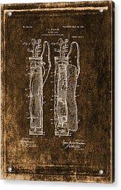 Vintage Caddy Bag Patent Drawing  - 1905 Acrylic Print