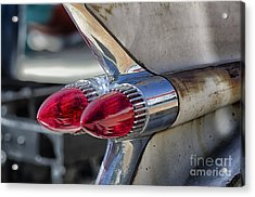 Vintage Cadillac Tail Fins Acrylic Print by JRP Photography