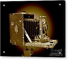 Vintage Camera In Sepia Tones Acrylic Print