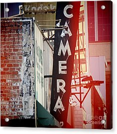 Vintage Camera Sign Acrylic Print by Nina Prommer