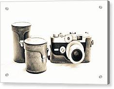 Vintage Camera Acrylic Print by Tony Grider