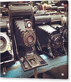 Vintage Cameras Acrylic Print by Sarah Coppola