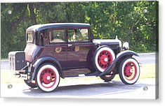 Acrylic Print featuring the photograph Vintage Car by Kristine Bogdanovich
