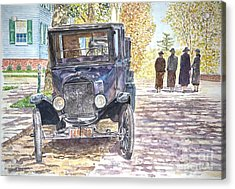 Vintage Car Richmondtown Acrylic Print