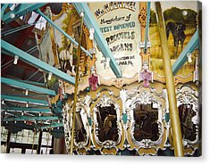 Acrylic Print featuring the photograph Vintage Carousel by Debra Crank