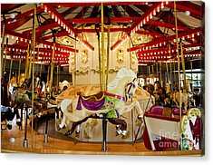 Acrylic Print featuring the photograph Vintage Carousel by Maria Janicki