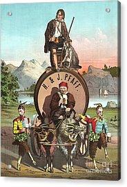 Vintage Celebrity Endorsement 1870 Acrylic Print by Padre Art