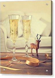 Vintage Champagne Acrylic Print by Amanda Elwell