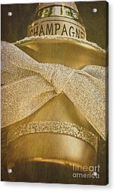 Vintage Champagne Ornament Acrylic Print by Birgit Tyrrell