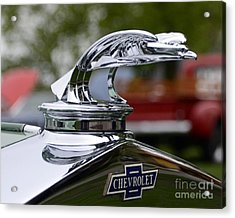 Vintage Chevrolet Hood Ornament Acrylic Print by JRP Photography