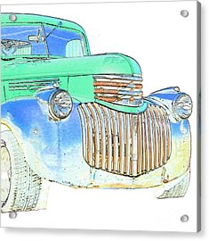 Vintage Chevrolet Pickup 2 Acrylic Print by Betty LaRue