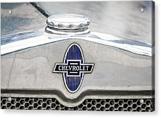 Acrylic Print featuring the photograph Vintage Chevy Logo by Dawn Romine