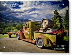 Vintage Chevy Truck At Oliver Twist Winery Acrylic Print