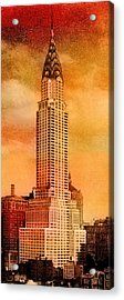 Vintage Chrysler Building Acrylic Print by Andrew Fare