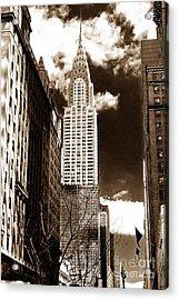 Vintage Chrysler Building Acrylic Print by John Rizzuto