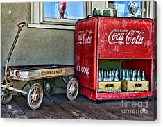 Vintage Coca-cola And Rocket Wagon Acrylic Print by Paul Ward