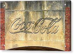 Vintage Coca Cola Bottling Plant Portal - Frederick Md Acrylic Print