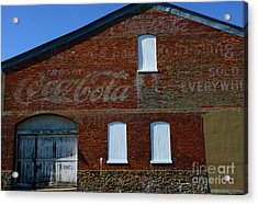 Vintage Coca Cola Ghost Sign Acrylic Print by Paul Ward