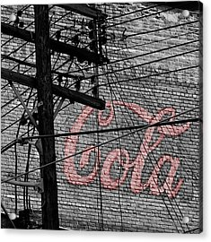 Vintage Coca Cola Sign 4b Acrylic Print by Andrew Fare