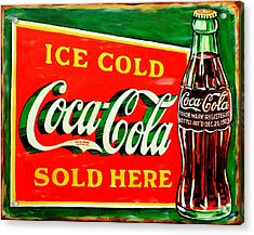 Vintage Coca-cola Sign Acrylic Print by Karl Wagner