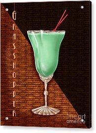 Vintage Cocktails-grasshopper Acrylic Print by Shari Warren