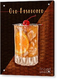Vintage Cocktails-old Fashioned Acrylic Print by Shari Warren