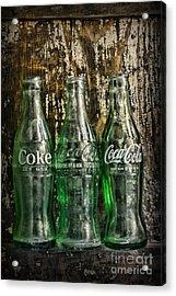 Vintage Coke Bottles Acrylic Print