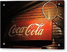 Vintage Coke-cola Sign Acrylic Print by Linda Phelps