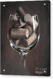 Vintage Corks Acrylic Print