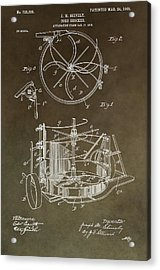 Vintage Corn Shocker Patent Acrylic Print by Dan Sproul