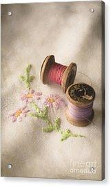 Vintage Cotton Reels Acrylic Print by Jan Bickerton