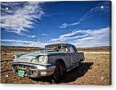 Vintage Desert Car Acrylic Print by Shanna Gillette