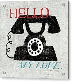 Vintage Desktop - Phone Acrylic Print by Michael Mullan