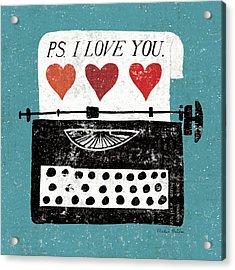 Vintage Desktop - Typewriter Acrylic Print