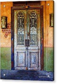 vintage door in Hico TX Acrylic Print