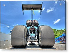 Acrylic Print featuring the photograph Vintage Drag Racer by Gianfranco Weiss