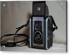 Vintage Duaflex Iv Camera Acrylic Print by Mark McReynolds