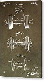 Vintage Dumbbell Patent Acrylic Print