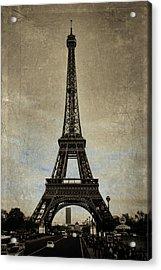 Vintage Eiffel Bronze Acrylic Print