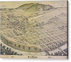 Vintage El Paso Map Acrylic Print
