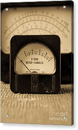 Vintage Electrical Meters Acrylic Print by Edward Fielding
